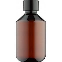 Fles 200 ml met zwarte dop 10x