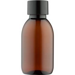 Fles 125 ml met zwarte dop 10x