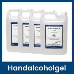 Handalcoholgel 70% - 4 x 5 liter