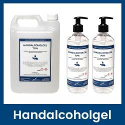 Handalcoholgel 70% - 5 liter + 2x 500ml met pomp